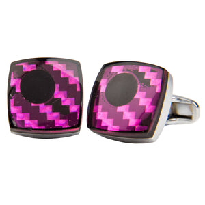 Purple & Magenta Square Cufflinks