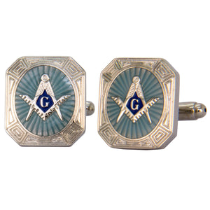 Silver Masonic Burst Cufflinks