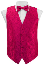 Load image into Gallery viewer, Hot Pink Paisley Vest Set