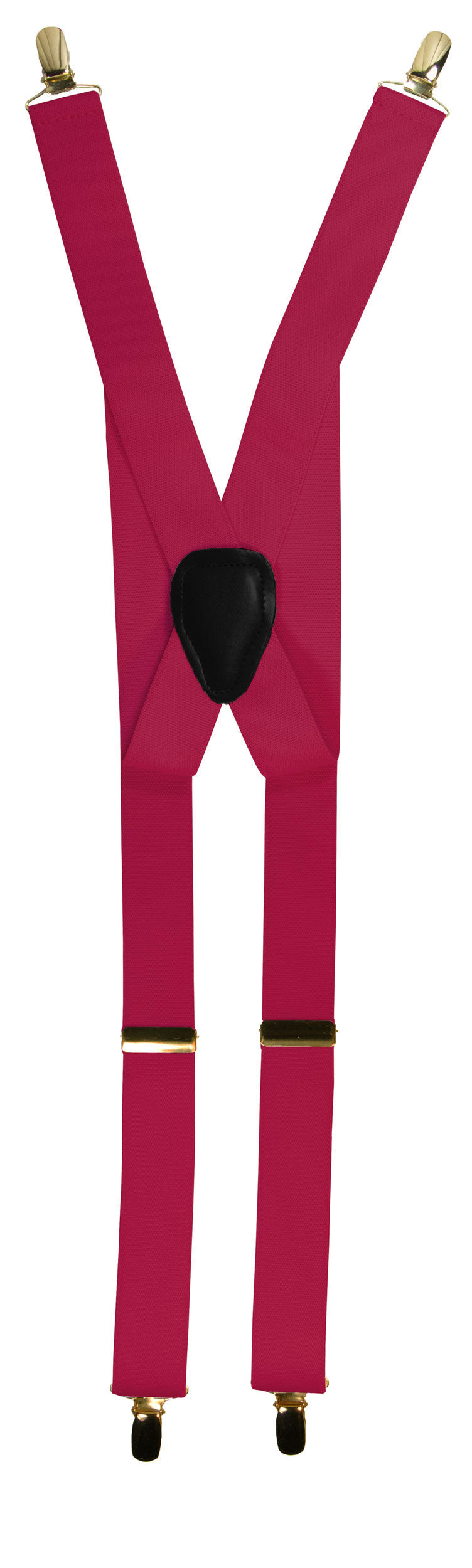 Hot Pink Clip End Suspenders