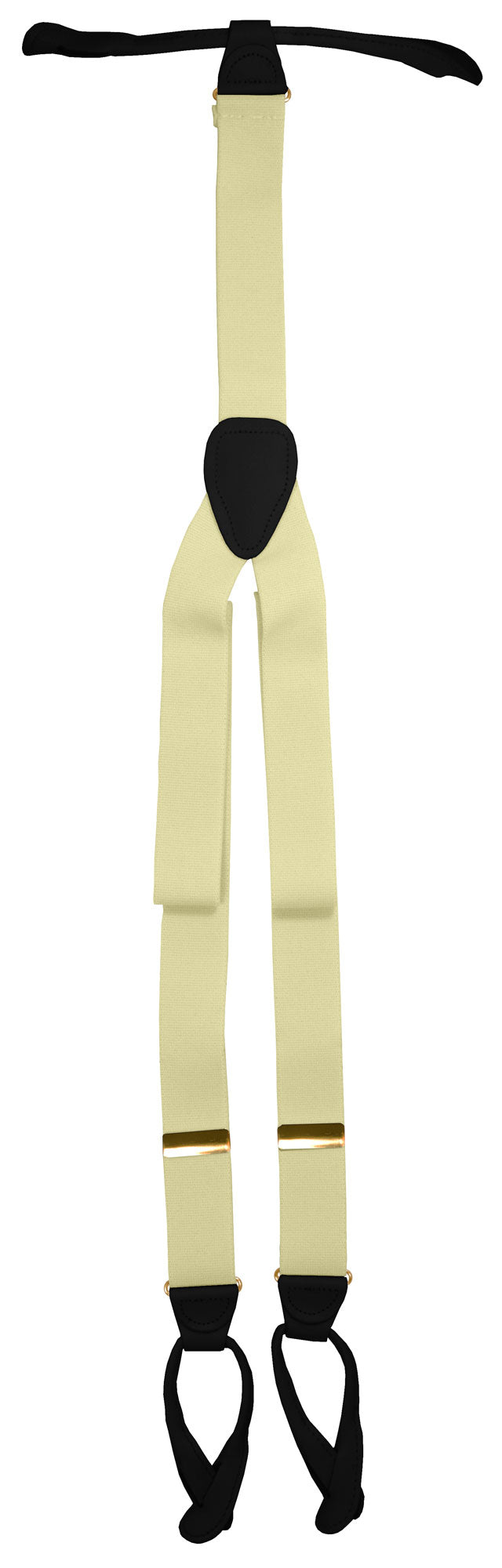 Ivory Button Suspenders