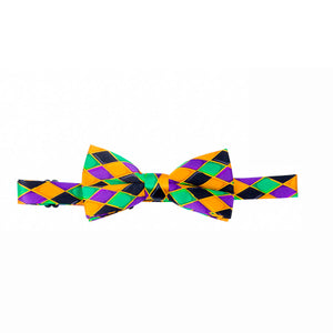 Mardi Gras Harlequin Print Vest & Bow tie ONLY