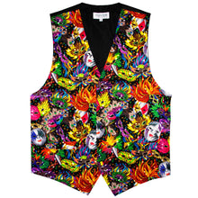 Load image into Gallery viewer, Mardi Gras Masquerade Mask Print FULL Vest Set