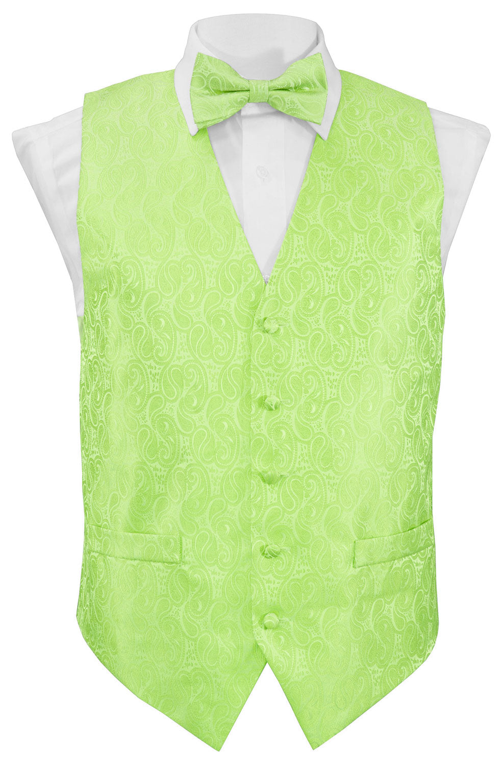 Mint Paisley Vest Set