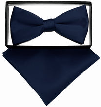 Load image into Gallery viewer, Navy Bow Tie