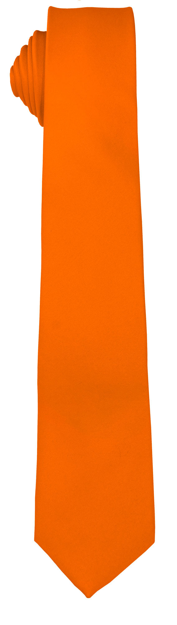 Orange Skinny Tie