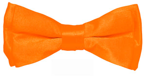 Orange Boys Solid Bow Tie Only