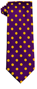 Purple & Gold Polka dot Tie