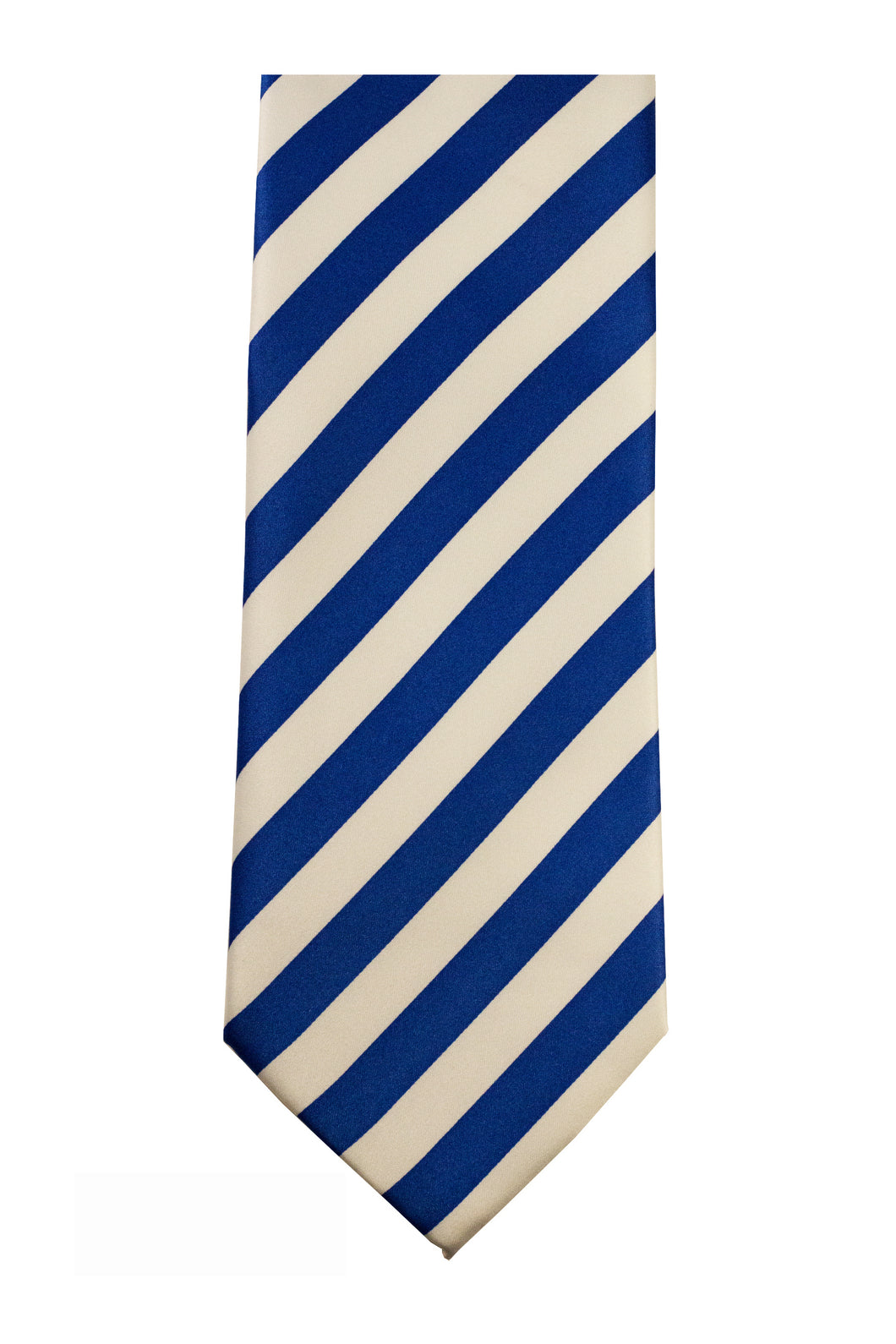 Royal/White Striped Necktie/Handkerchief Set