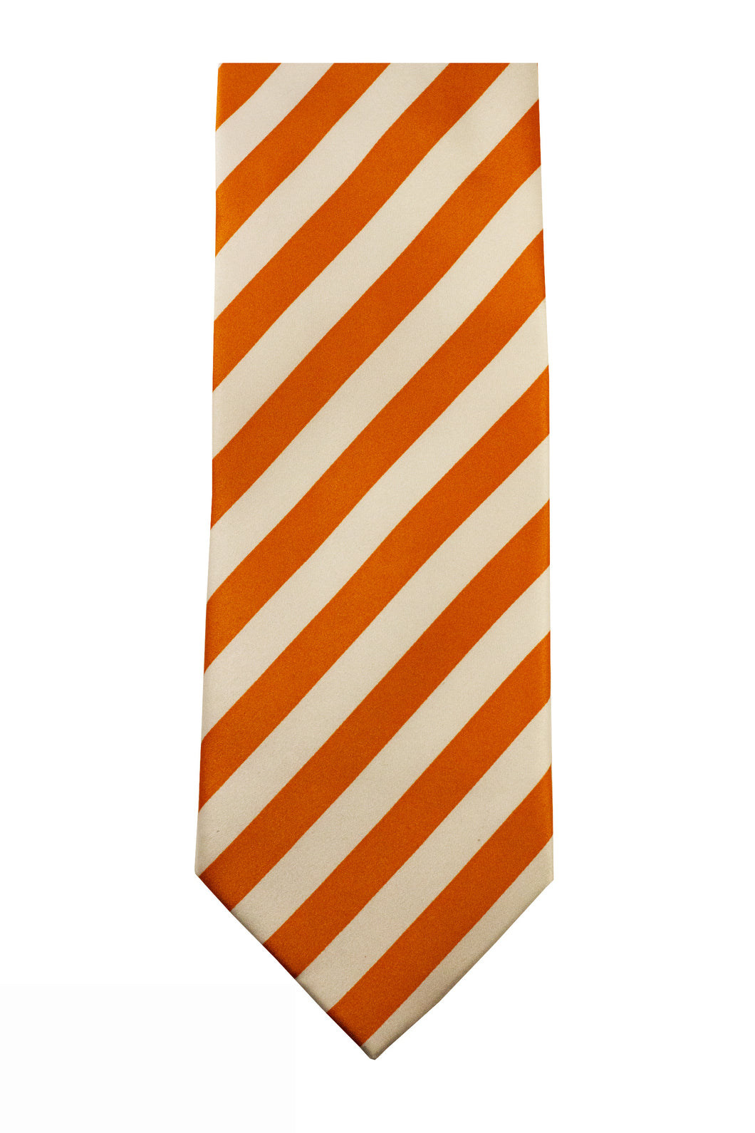 Orange/White Striped Necktie/Handkerchief Set