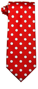 Red & White Polka dot Tie