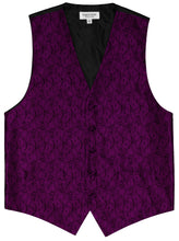 Load image into Gallery viewer, Plum Paisley Vest Set