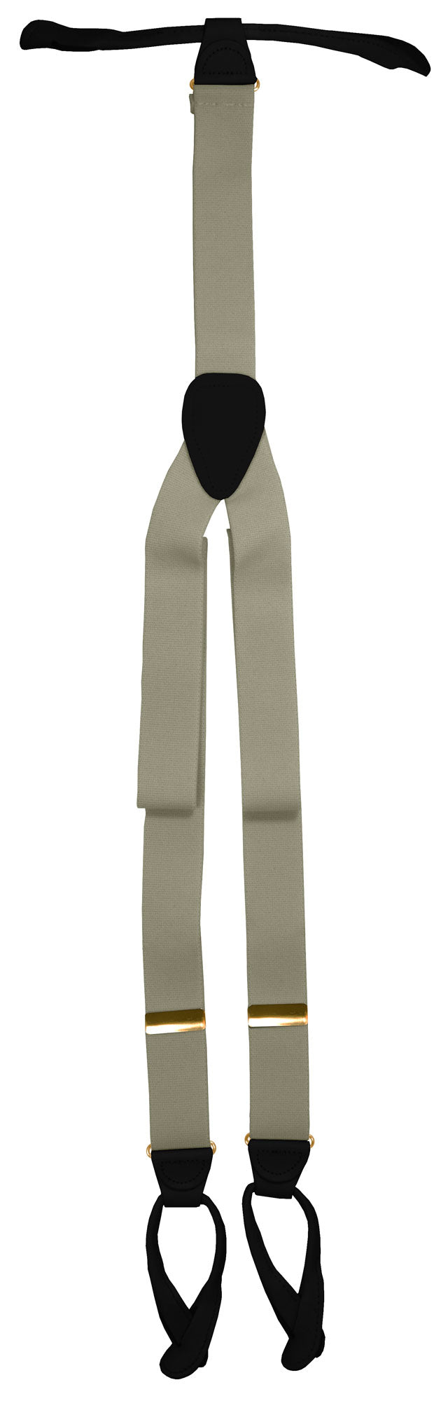 Silver Button Suspenders