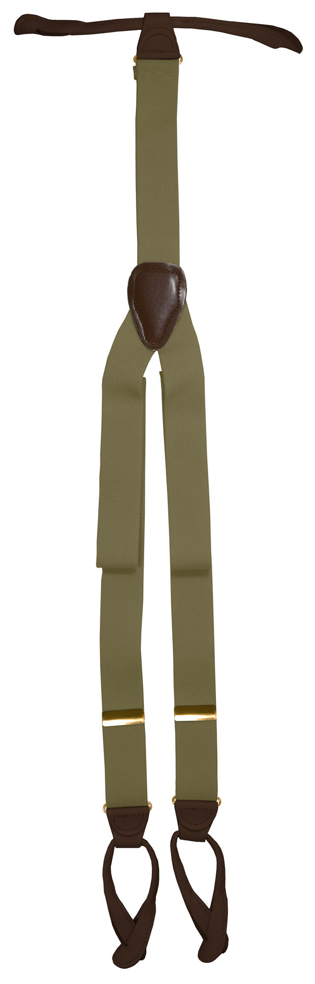 Taupe Button Suspenders