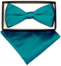 Load image into Gallery viewer, Teal Bow Tie