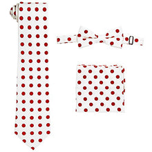 Load image into Gallery viewer, White/Red Polka Dot Vest Set