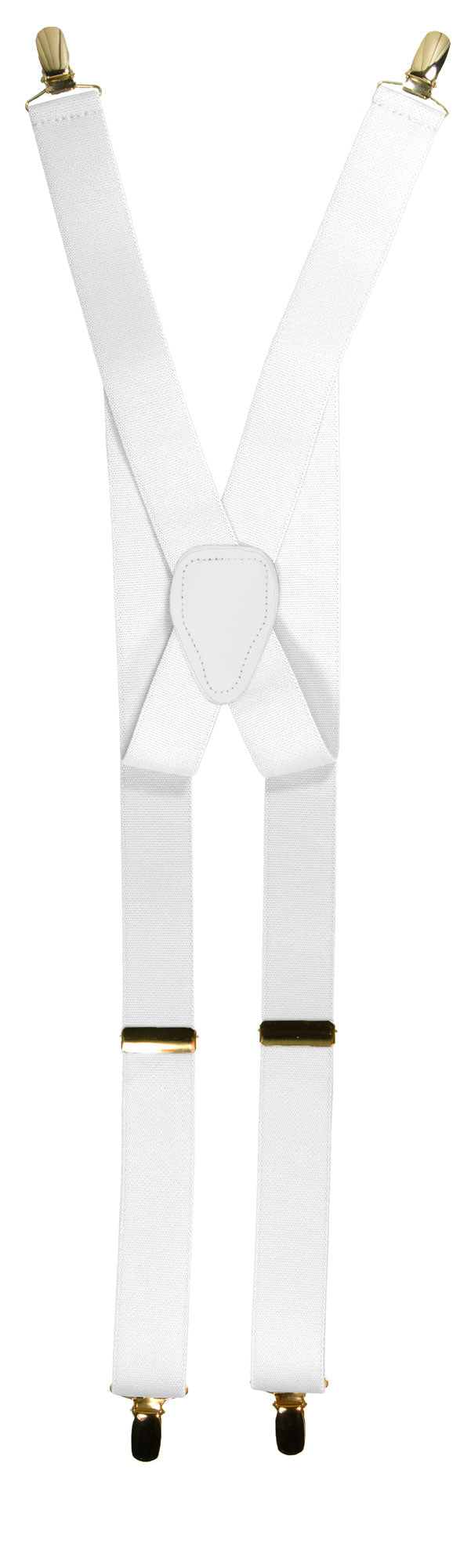 White Clip End Suspender