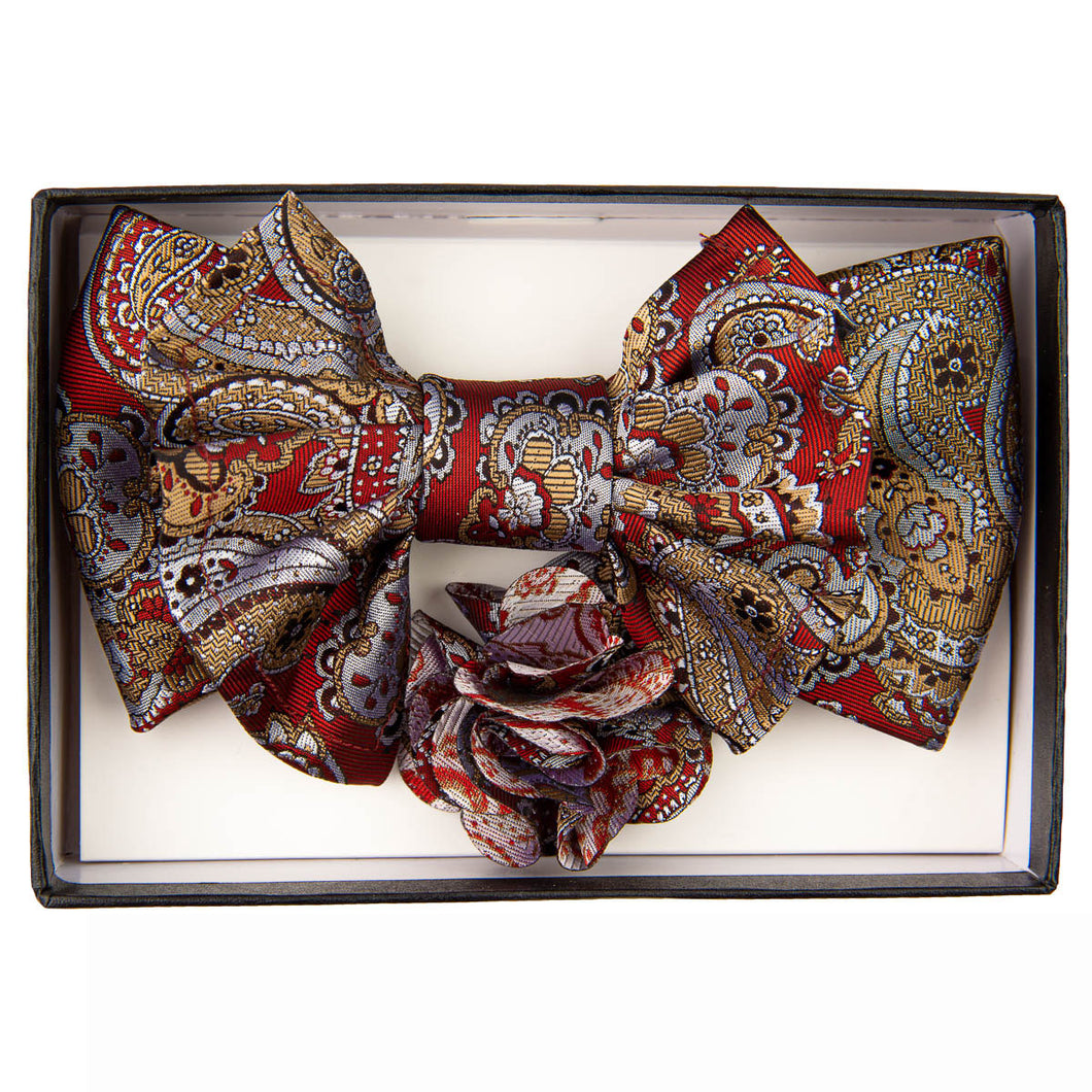 Rust/Tan XL Bow Tie Set