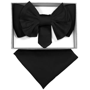 Black XL Bow Tie Set