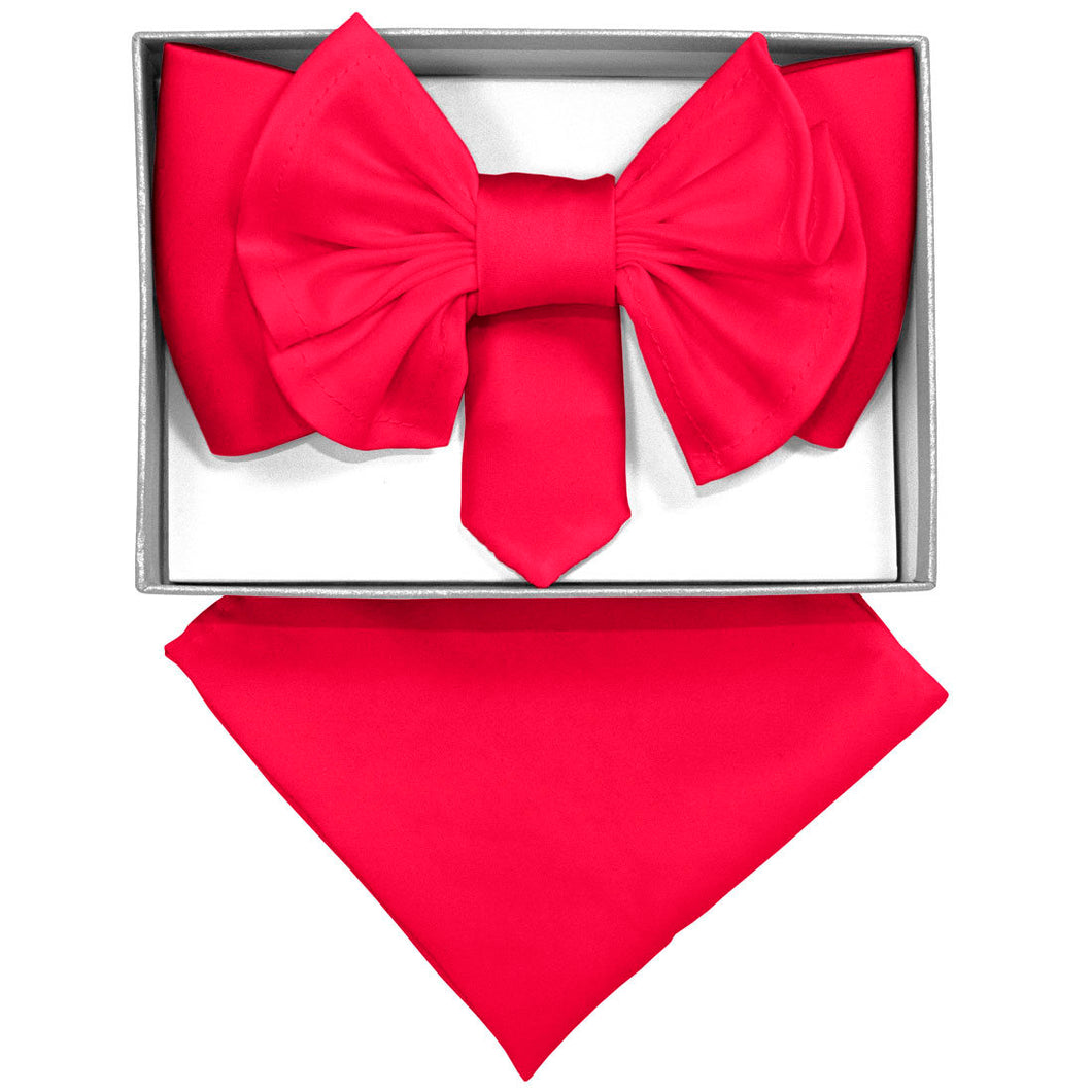 Hot Pink XL Bow Tie Set