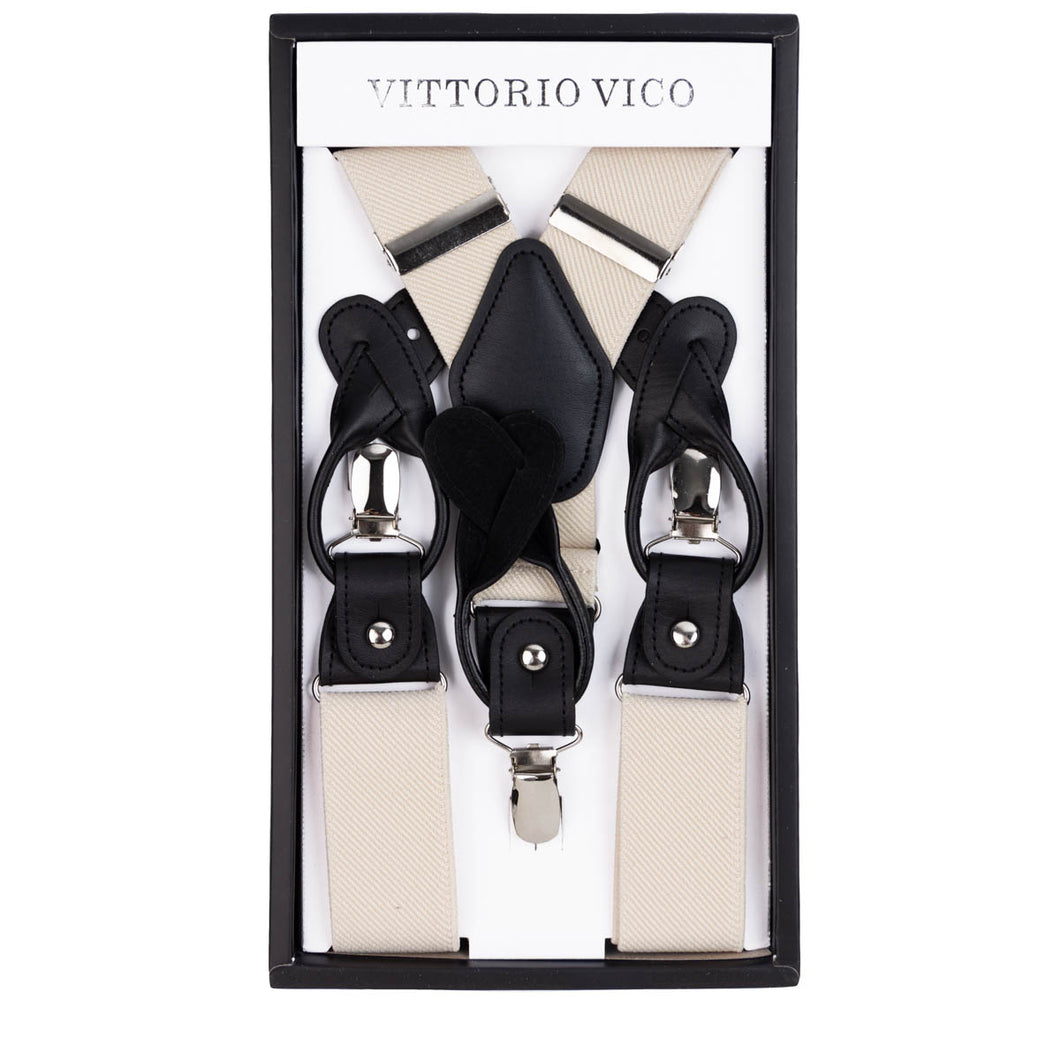 Ivory Convertible Suspenders Sets