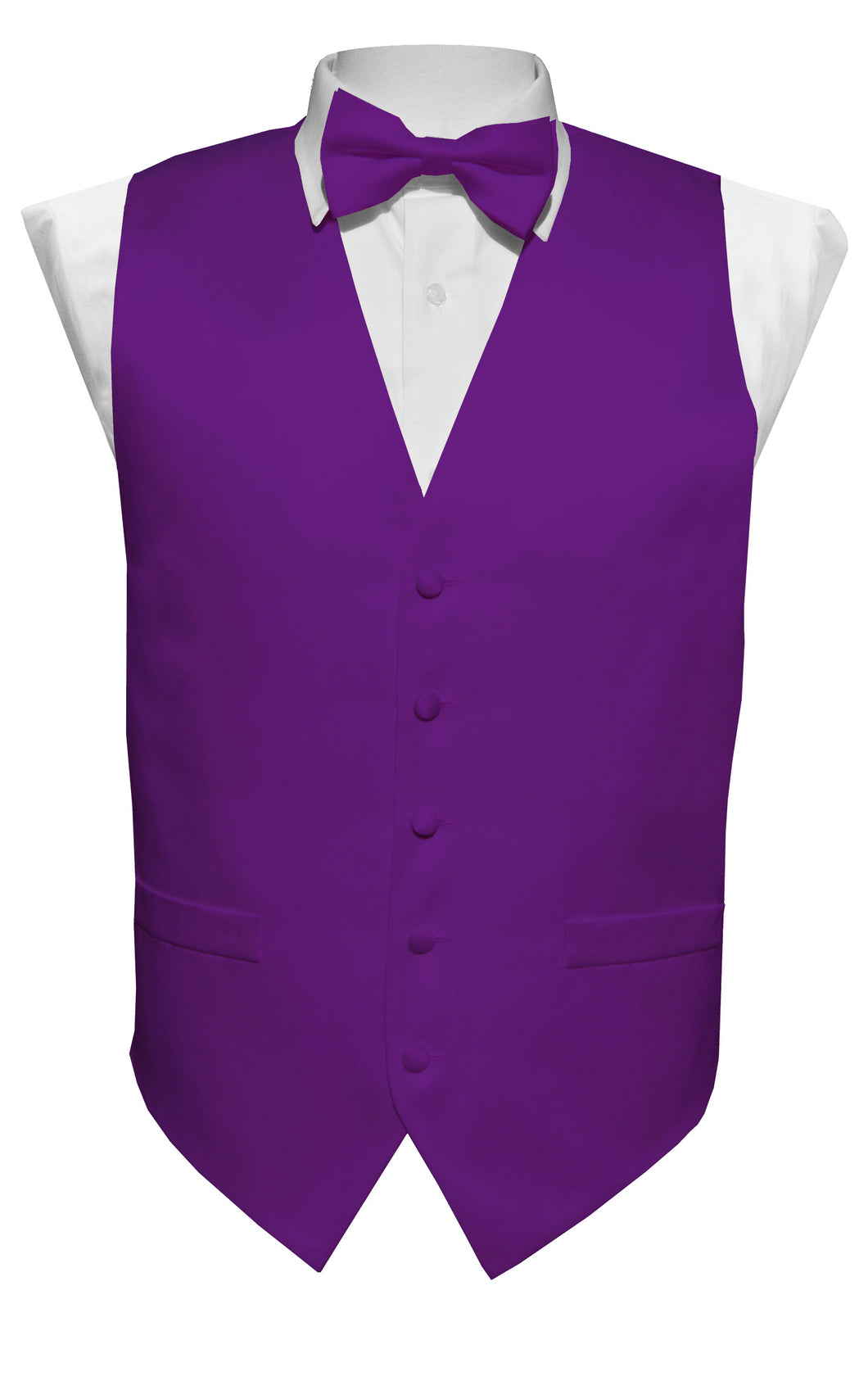 Purple Solid Vest Set