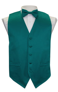 Teal Solid Vest Set