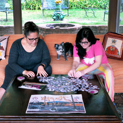 Ana Fernandez & Susan Heard co-founders of the Art Puzzle Project