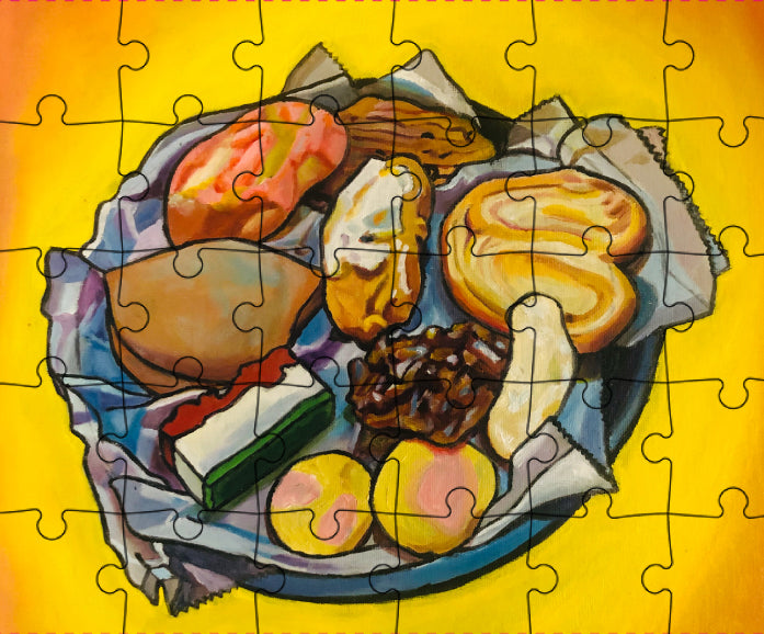 """El Pan Dulce"" by Cristina Sosa-Noriega 24 pc Large Piece Puzzle for KIDS"
