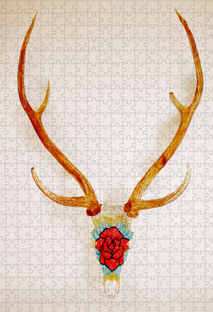 """Axis Rose"" Haute Horns by Annlyn Osborn 500 pc"