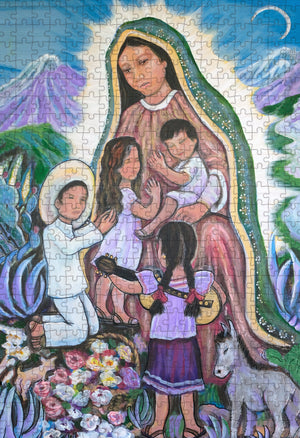 """Virgin of Guadalupe Looks Over Us"" by Rosa Fernandez 500 pc Puzzle"