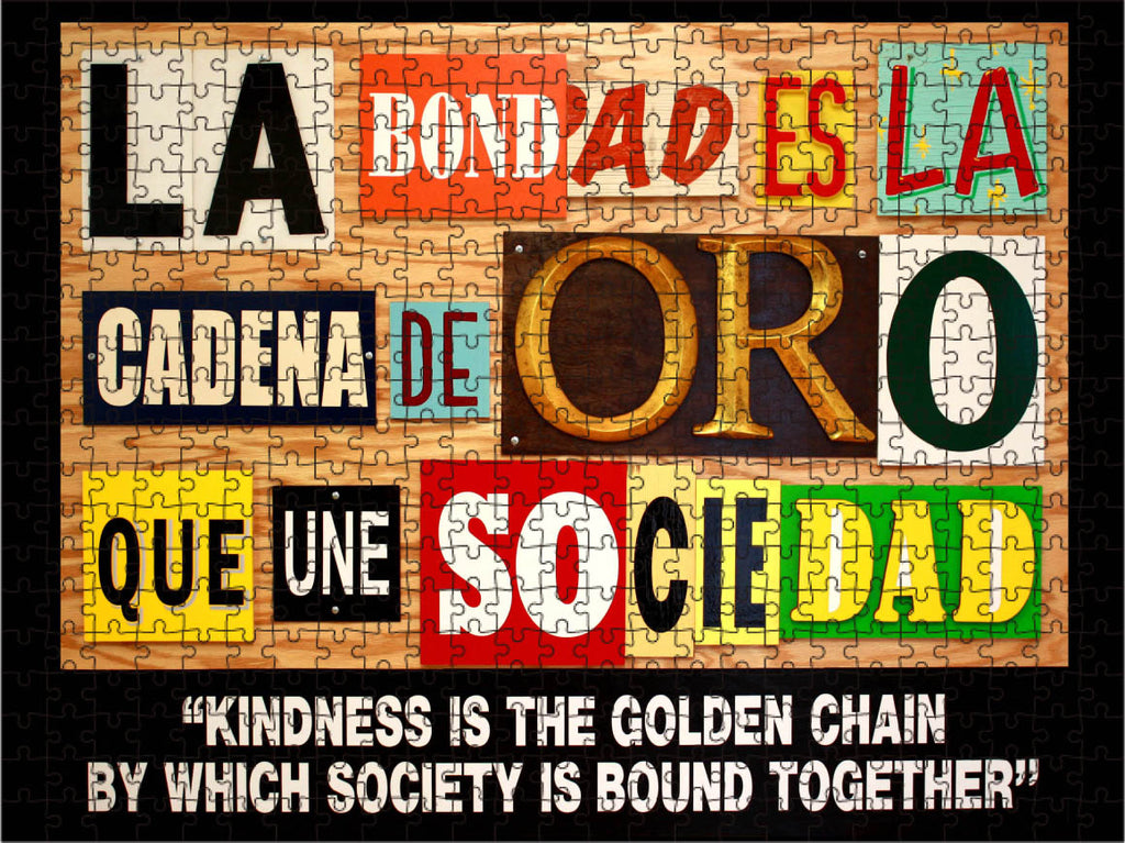 """Kindness Is The Golden Chain"" by Gary Sweeney 500 pc Puzzle"