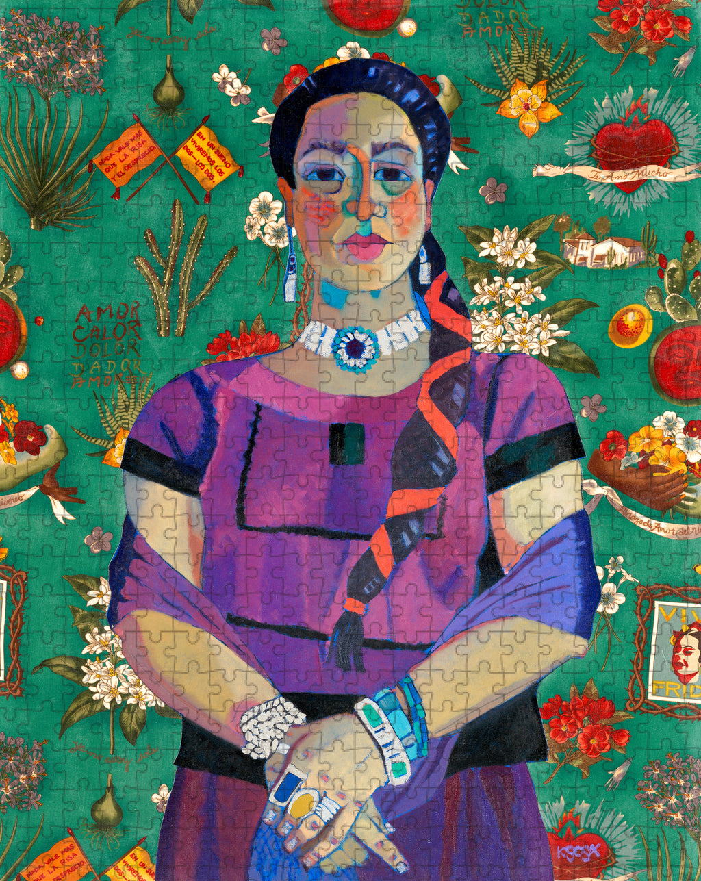 """Mujer in Purple"" by Kathy Sosa 500 pc Puzzle"