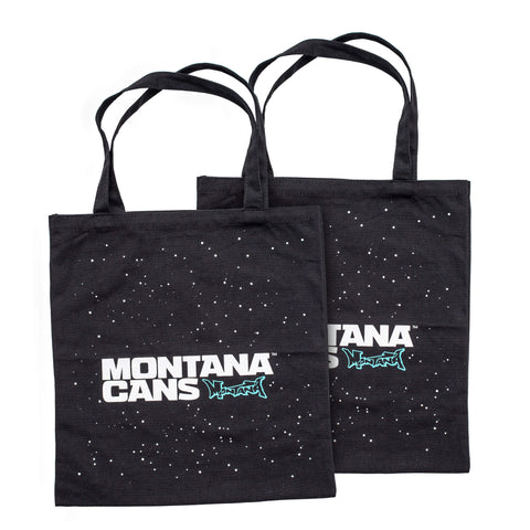 BAG TYPO+STARS BLACK