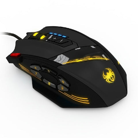 ZELOTES C-12 Wired Mouse USB Optical Gaming Mouse 12 Programmable Buttons 4 Adjustable DPI 7 LED Lights