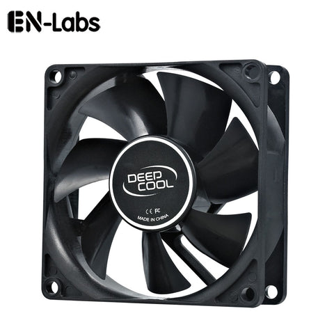 En-Labs PC Computer 80mm Hydro Bearing 20dBA Ultra Silent Case Fan Heatsink Cooler, 8CM Fan Power by Molex IDE 4pin