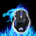 Professional USB Wired Gaming Computer Mouse 5500 DPI Opomputer Overwatch Pubtical LED Lighting Mouse Gamer for Cg Dota 2