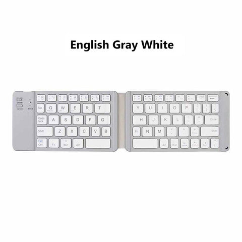 AVATTO Light-Handy Russian/English Bluetooth Folding Keyboard, Wireless Keypad For IOS/Android/Windows ipad Tablet phone