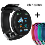 2019 Bluetooth Smart Watch Men Blood Pressure Round Smartwatch Women Watch D Waterproof Fitness Tracker WhatsApp For Android iOS