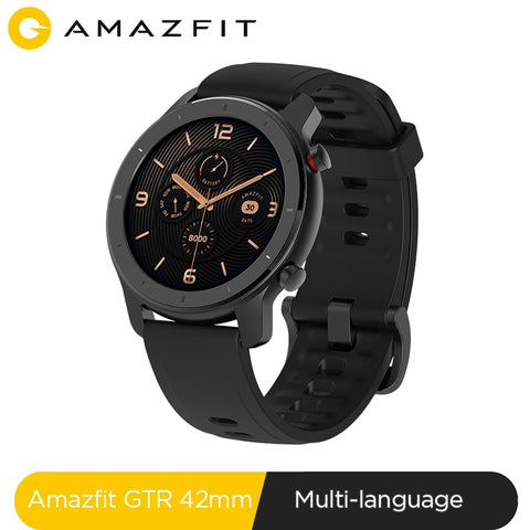 In Stock Global Version New Amazfit GTR 42mm Smart Watch 5ATM Smartwatch 12Days Battery Music Control For Xiaomi Android IOS