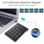 [AVATTO] Small 2.4GHz Wireless Numeric Keypad Numpad 18 Keys Digital Keyboard for Accounting Teller Laptop Notebook Tablets