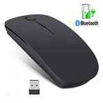 Wireless Mouse Computer Bluetooth Mouse Rechargeable Ergonomic Mouse 2.4Ghz USB Optical Mice For Laptop PC