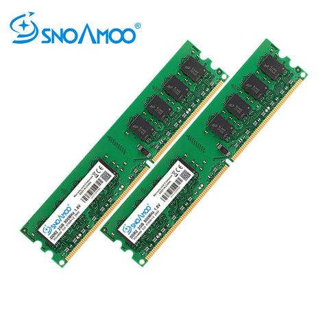 SNOAMOO Desktop PC RAMs DDR2 1G/2GB 667MHz PC2-5300s 800MHz PC2-6400S DIMM Non-ECC 240-Pin 1.8V For Intel