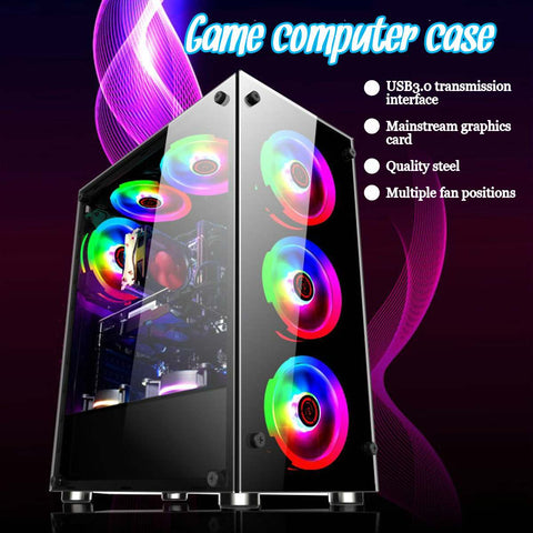 Gamer Cooling Desktop Computer Mainframe Case For ATX/ m-atx/atx/mini-itx Motherboard Support 8 Fans