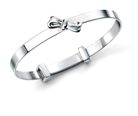 D for Diamond Bow Bangle