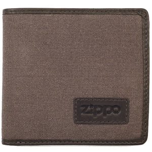 Zippo Brown & Mocha Canvas And Leather Trim Wallet