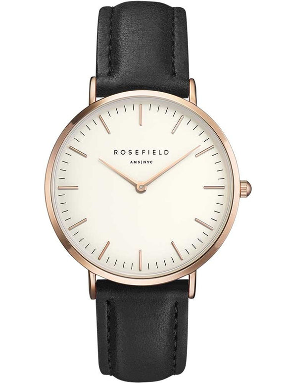 Rosefield Ladies Rose Gold Plated Bowery Watch BWBLR-B1