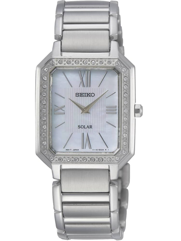 Seiko Ladies Discover More Solar Silver Bracelet Watch SUP427P1