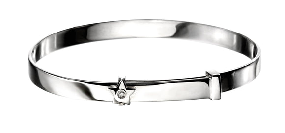 D for Diamond star bangle
