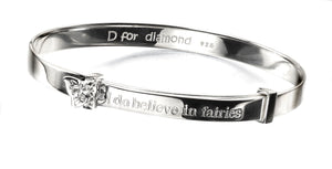 D for Diamond Butterfly Bangle